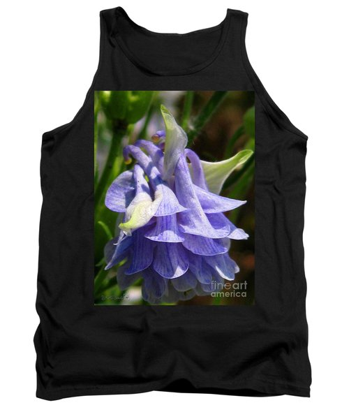 Double Columbine Named Light Blue Tank Top by J McCombie