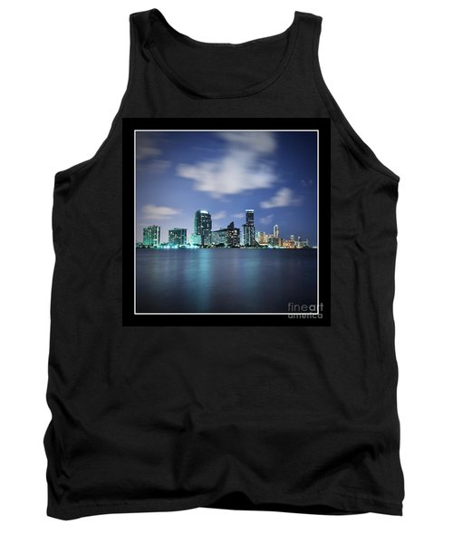 Tank Top featuring the photograph Downtown Miami At Night by Carsten Reisinger