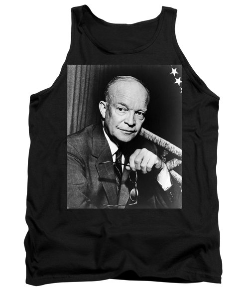 Tank Top featuring the photograph Dwight D Eisenhower - President Of The United States Of America by International  Images