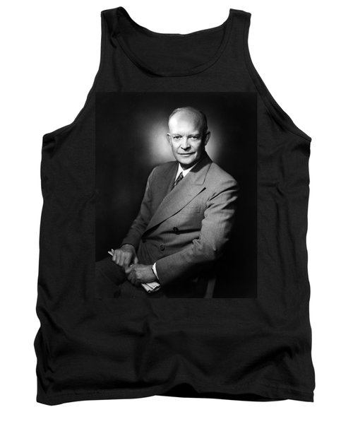 Tank Top featuring the photograph Dwight Eisenhower - President Of The United States Of America by International  Images