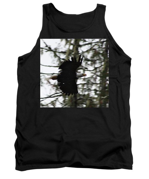 Tank Top featuring the photograph Eagle Fly By by Cathie Douglas