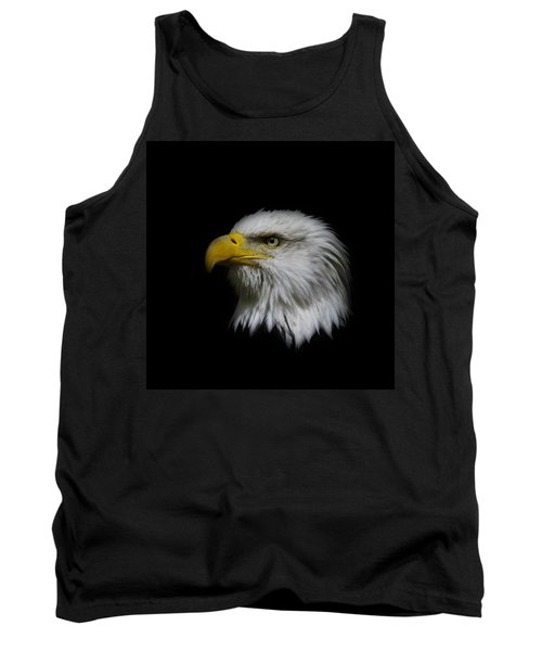Tank Top featuring the photograph Eagle Head by Steve McKinzie