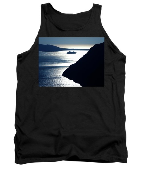 Tank Top featuring the photograph Early Night Santorini Island Greece by Colette V Hera  Guggenheim