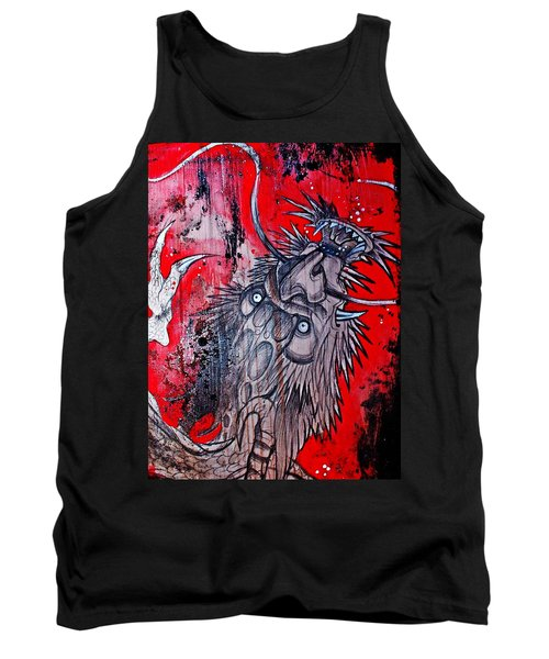 Tank Top featuring the painting Earth Spirit by Sandro Ramani