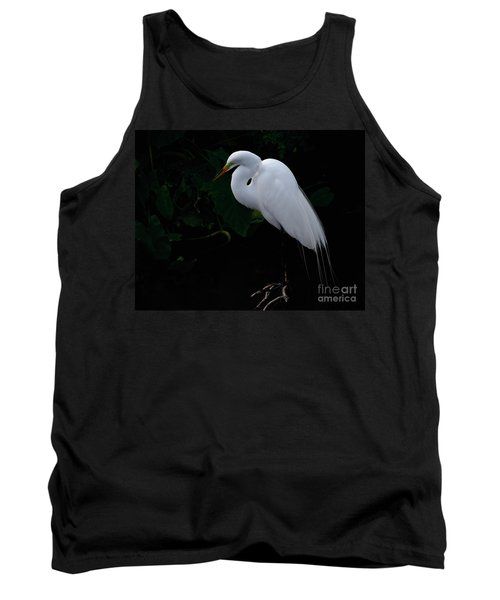 Egret On A Branch Tank Top