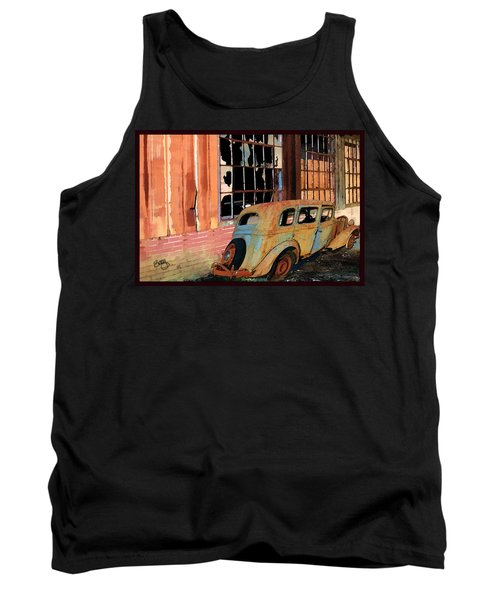 Tank Top featuring the photograph Executive Parking by Larry Bishop