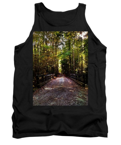 Tank Top featuring the photograph Fall Hiking Trail by Janice Spivey