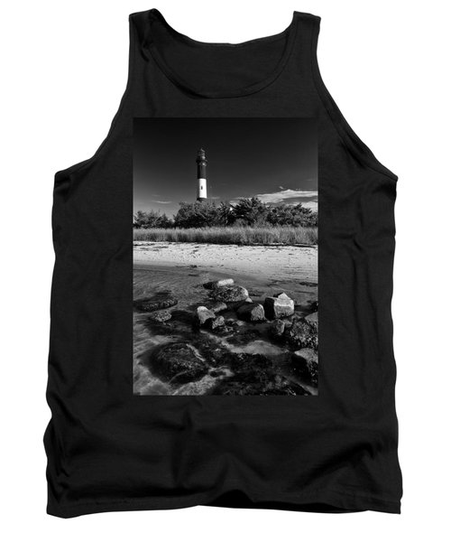 Fire Island In Black And White Tank Top