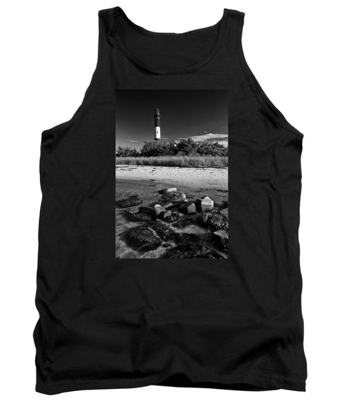 Fire Island In Black And White Tank Top by Rick Berk