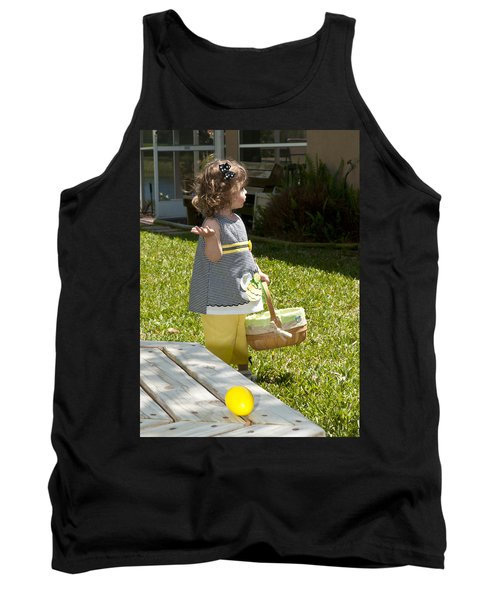 Tank Top featuring the photograph First Easter Egg Hunt by Steven Sparks