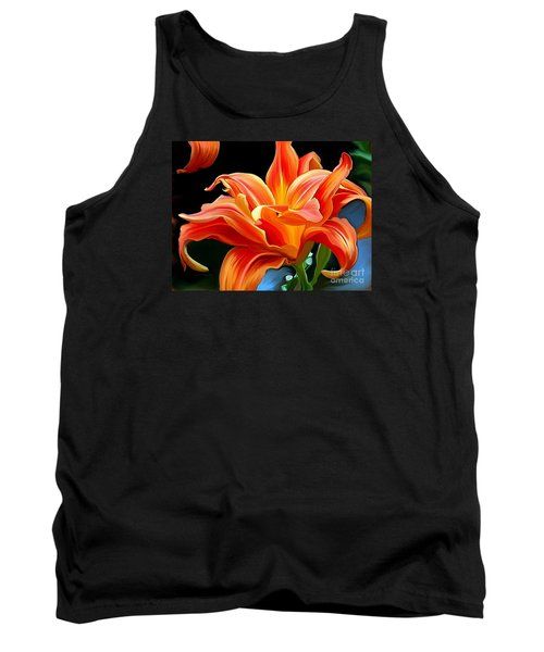 Flaming Flower Tank Top by Patricia Griffin Brett
