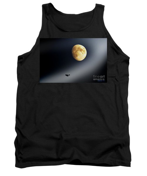 Fly Me To The Moon Tank Top by Kevin J McGraw