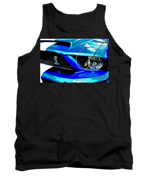 Tank Top featuring the digital art Ford Mustang Cobra by Tony Cooper