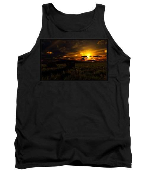 Tank Top featuring the digital art Forgotten Homestead... by Tim Fillingim