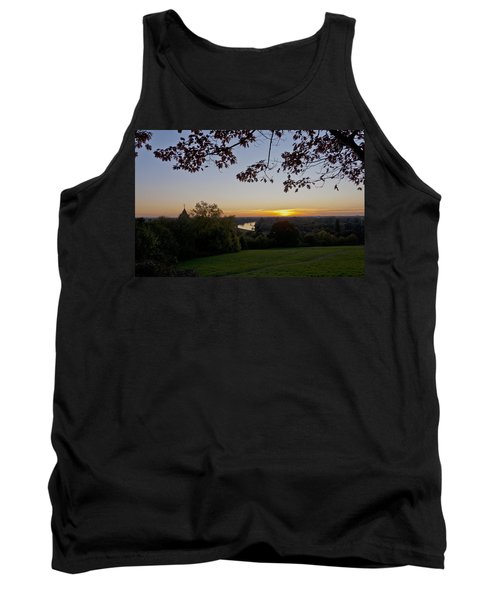 Tank Top featuring the photograph Framed Sunset by Maj Seda