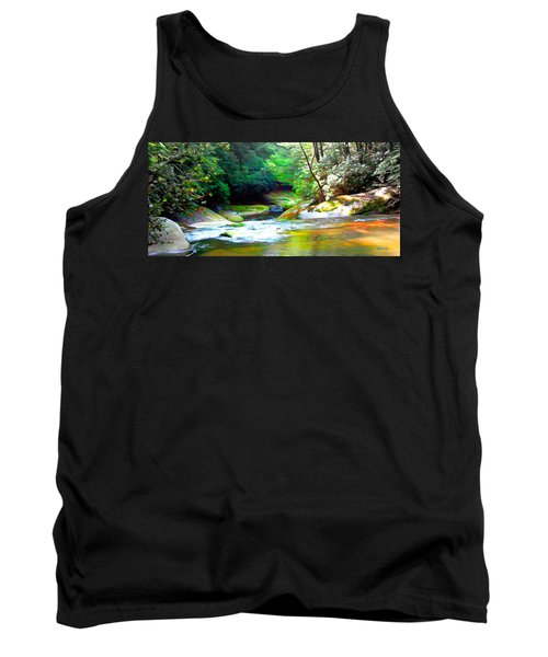 French Broad River Filtered Tank Top