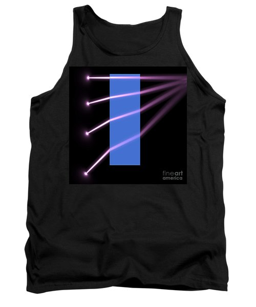 Tank Top featuring the digital art Glass Block 2 by Russell Kightley