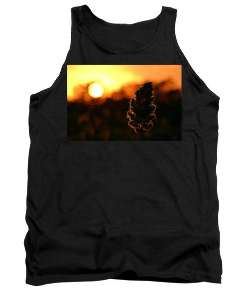 Glowing Leaf Tank Top by Zawhaus Photography
