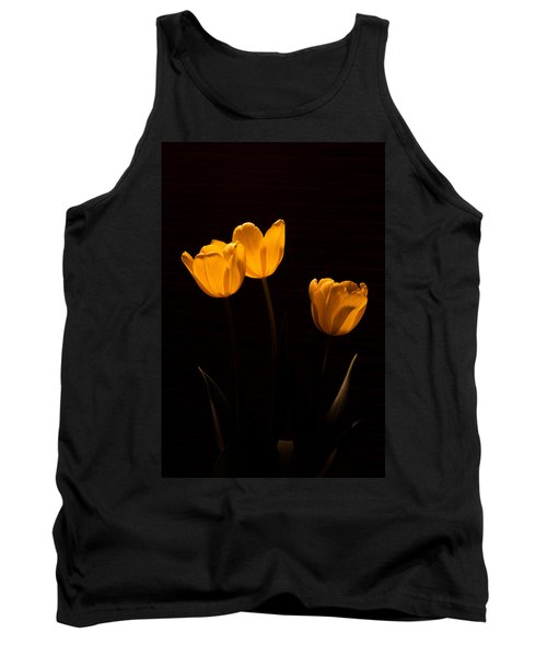 Tank Top featuring the photograph Glowing Tulips by Ed Gleichman