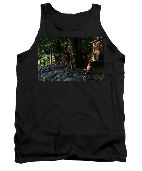Gnome And The Woodpile Tank Top