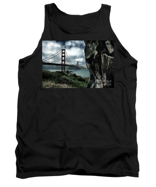 Tank Top featuring the photograph Golden Gate Bridge - 4 by Mark Madere