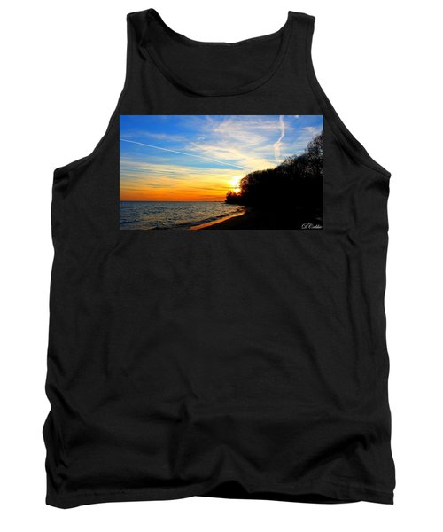 Golden Sunset Tank Top by Davandra Cribbie