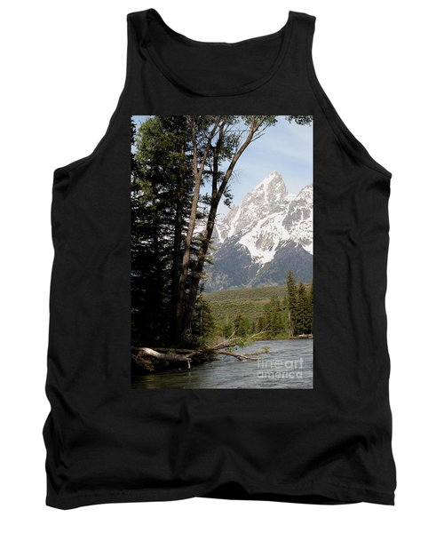 Tank Top featuring the photograph Grand Tetons Vertical by Living Color Photography Lorraine Lynch