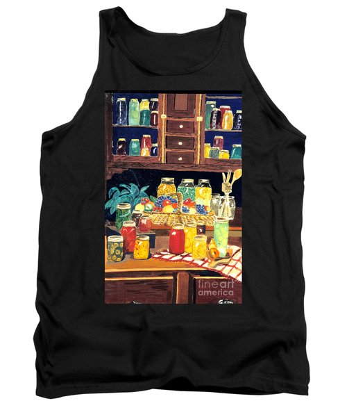 Tank Top featuring the painting Granny's Cupboard by Julie Brugh Riffey
