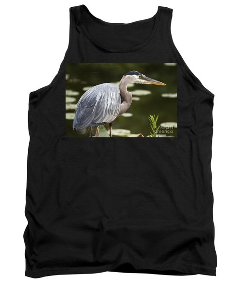 Tank Top featuring the photograph Great Blue Heron  by Jeannette Hunt