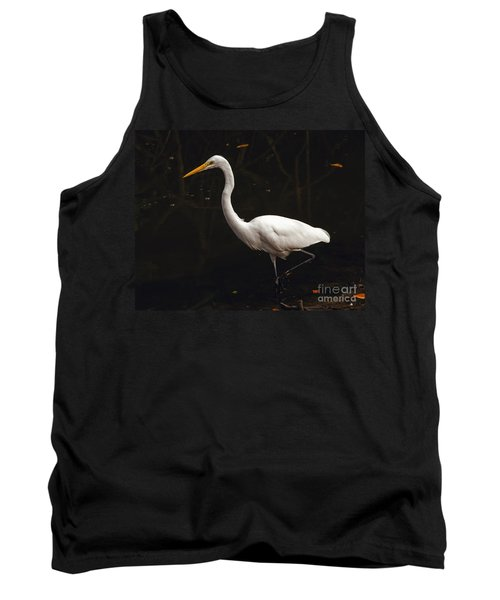 Great Egret Hunting Tank Top