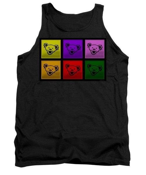 Greatful Dead Dancing Bears In Multi Colors Tank Top