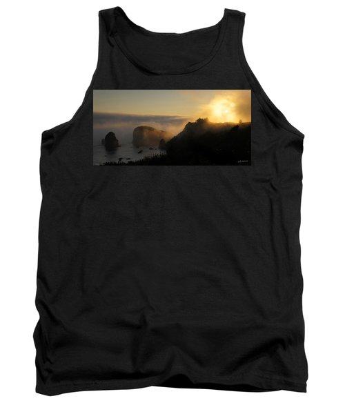 Harris Beach Sunset Panorama Tank Top by Mick Anderson
