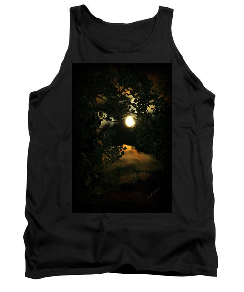 Tank Top featuring the photograph Haunting Moon by Jeanette C Landstrom