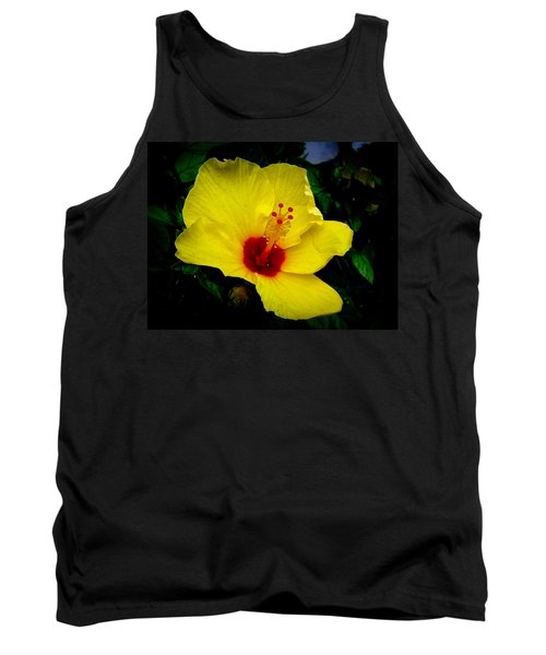 Tank Top featuring the photograph Hawaiian Yellow Hibiscus by Athena Mckinzie