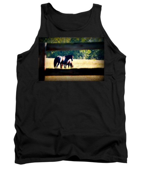 Tank Top featuring the photograph Horse Photography by Peggy Franz