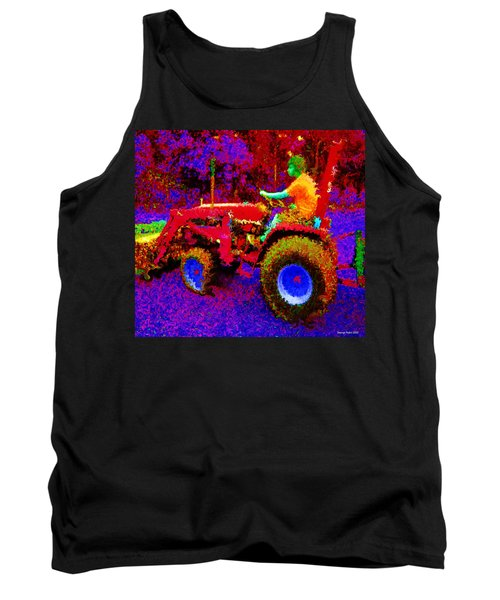Tank Top featuring the photograph Hot Afternoon On A John Deere Tractor by George Pedro