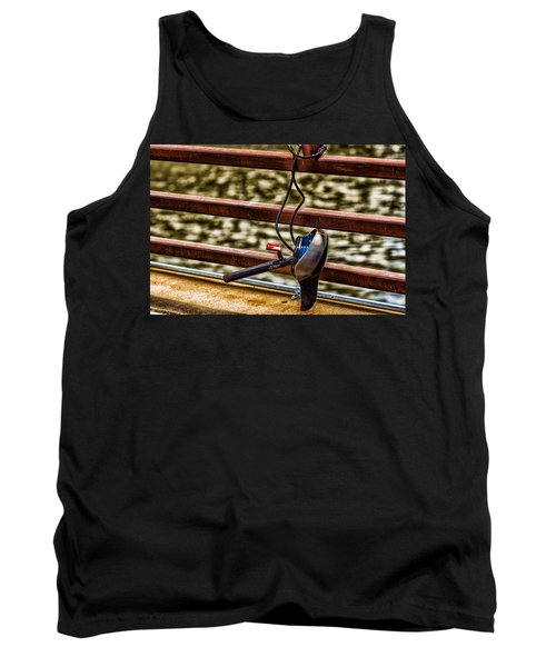 Tank Top featuring the photograph How Not To Lock Your Bike by Tom Gort
