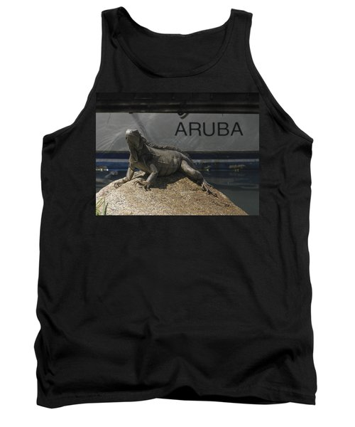Tank Top featuring the photograph Iguana by David Gleeson