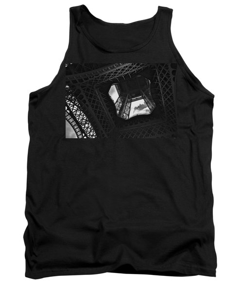 Tank Top featuring the photograph Inside The Eiffel Tower by Eric Tressler