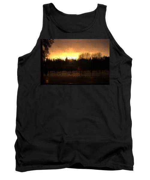 Tank Top featuring the mixed media Insomnia II by Terence Morrissey