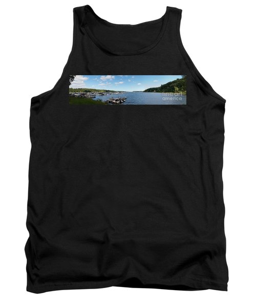 Tank Top featuring the photograph Irondequoit Bay Panorama by William Norton