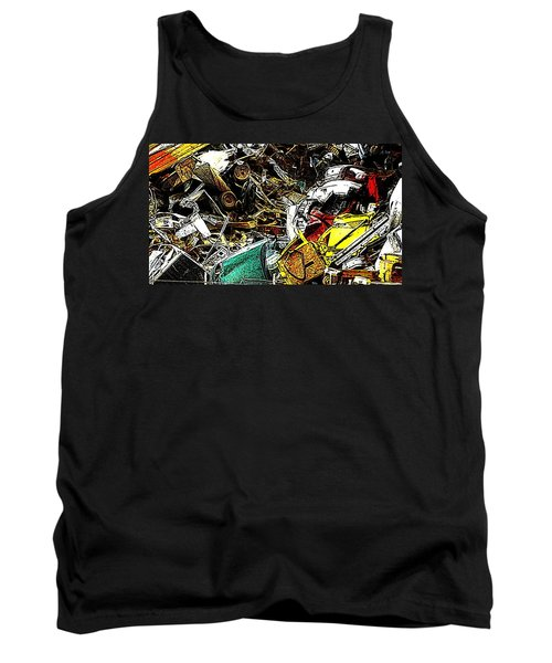 Tank Top featuring the photograph Junky Treasure by Lydia Holly