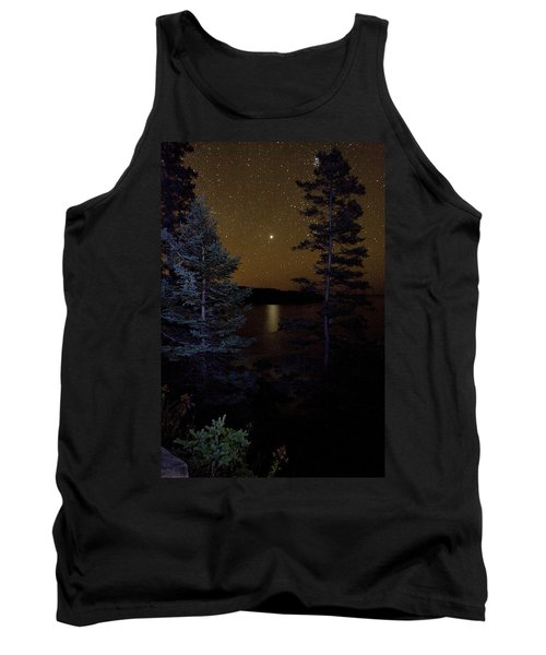 Jupiter Rising Over Otter Point Tank Top by Brent L Ander