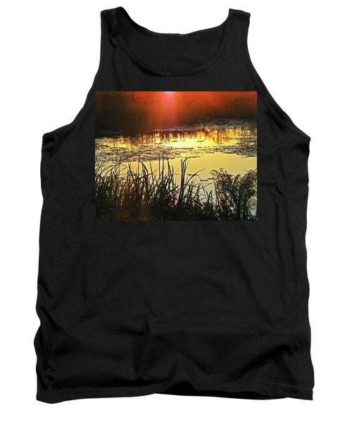 Tank Top featuring the photograph Lacassine Sundown by Lizi Beard-Ward
