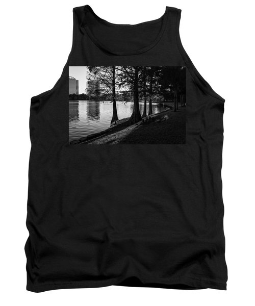 Tank Top featuring the photograph Lake Eola Water Edge by Lynn Palmer