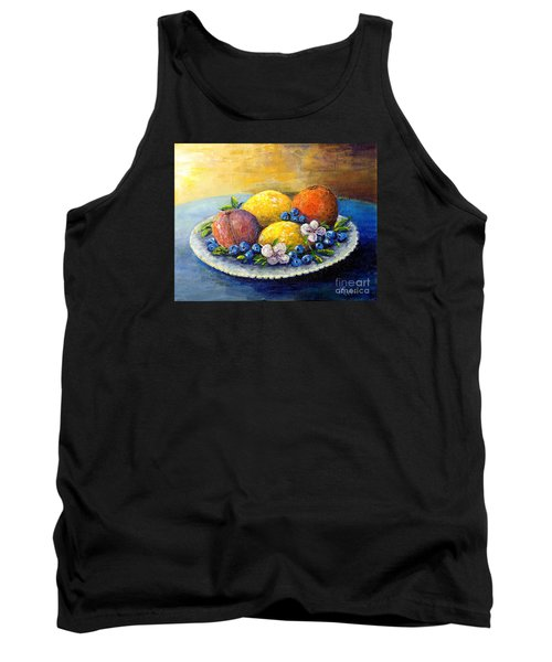 Lemons And Blueberries Tank Top