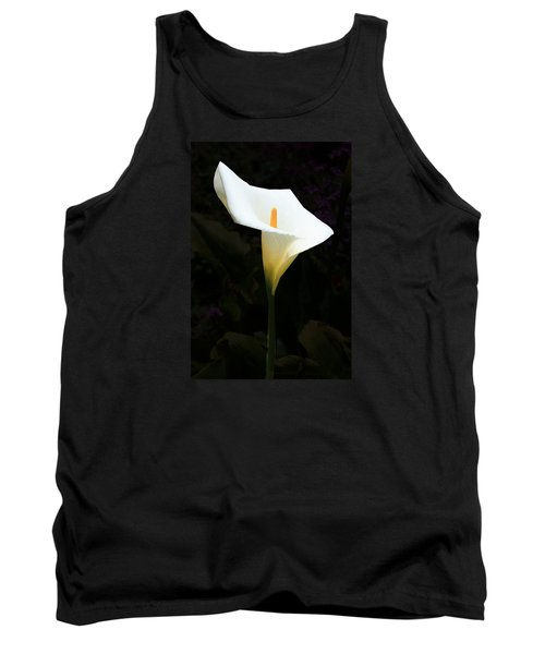 Tank Top featuring the photograph Lily On Black by Nareeta Martin