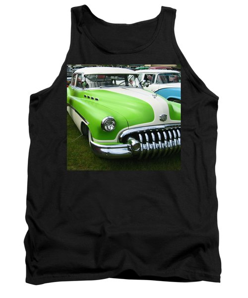 Tank Top featuring the photograph Lime Green 1950s Buick by Kym Backland