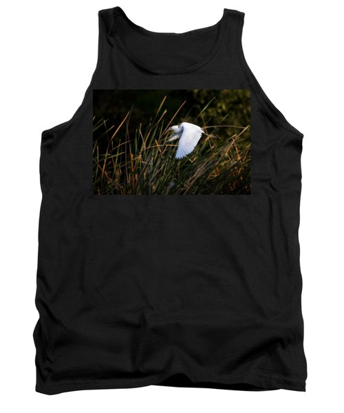 Tank Top featuring the photograph Little Blue Heron Before The Change To Blue by Steven Sparks
