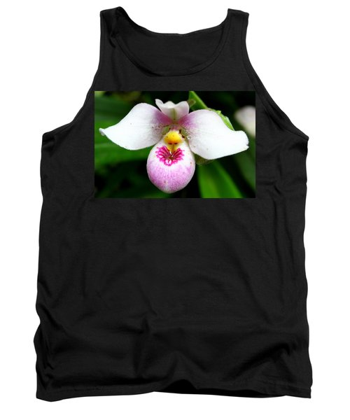Little White And Pink Orchid Tank Top